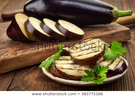 eggplant or aubergine and parsley leaf  Stock photo © natika