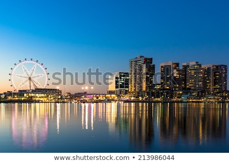 Melbourne City, Australia, at sunrise Stock photo © leetorrens