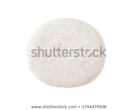 round stone on white background Stock photo © taviphoto