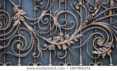 железной · ворот · стены · дизайна · забор · антикварная - Сток-фото © andromeda