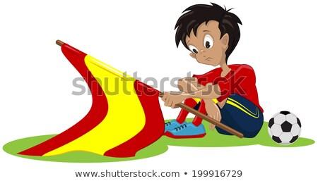 悲しい サッカー ファン スペイン国旗 実例 ベクトル ストックフォト © orensila