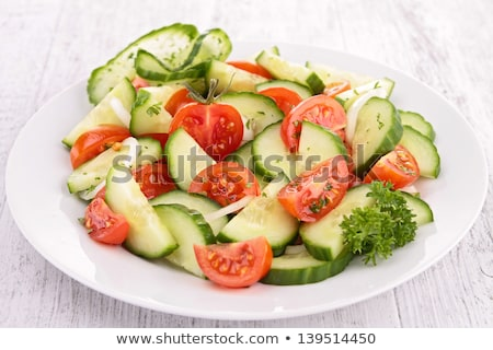 tomato and cucumber salad Stock photo © M-studio