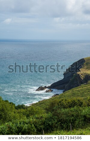 View from a vertical cliff by sea Stock photo © Mps197
