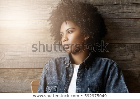 Teenage girl hair beauty skin looking away Stock photo © CandyboxPhoto