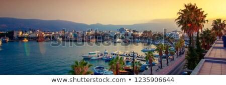 Zee Griekenland zomer dag restaurant Stockfoto © OleksandrO