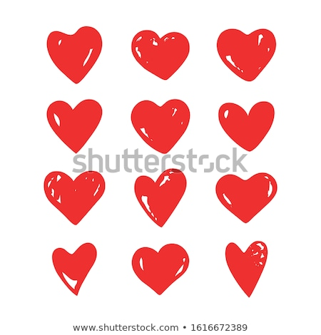 12 set of red hearts icon stock photo © Kheat