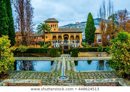 Gallery Alhambra Granada Andalusia Spain Stock photo © billperry