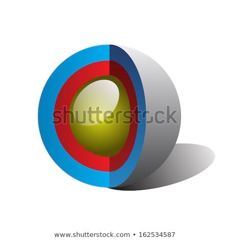 поперечное · сечение · сфере · 3d · иллюстрации · белый · компьютер · мира - Сток-фото © montego