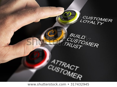 Cliente lealtad grupo palabras negocios éxito Foto stock © OutStyle