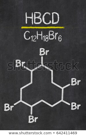 Blackboard with the chemical formula of Polystyrene Stock photo © Zerbor