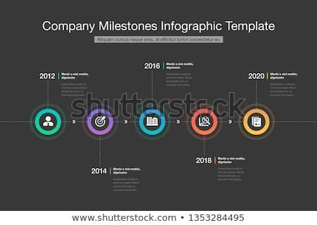 modern · infografika · idővonal · jelentés · sablon · fény - stock fotó © orson