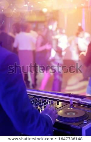 Tömeg buli esküvői fogadás esküvő tánc füst Stock fotó © aetb