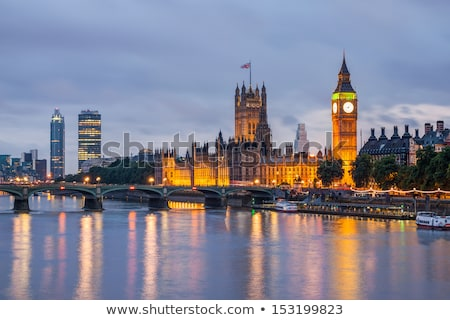Stock photo: River Thames, Westminster Palace and London Skyline in the Eveni