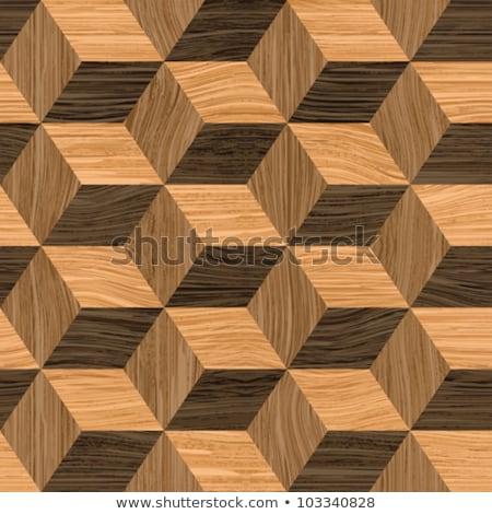 Seamless wood chessboard background. Stock photo © Leonardi