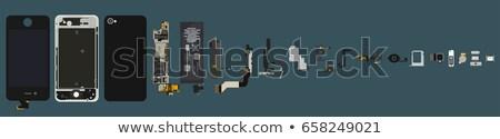 Okostelefon izolált fehér közelkép telefon háttér Stock fotó © OleksandrO