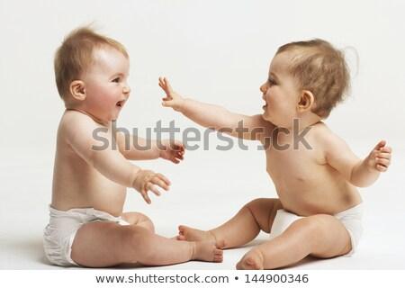 Bebé jugando feliz sesión Foto stock © nyul