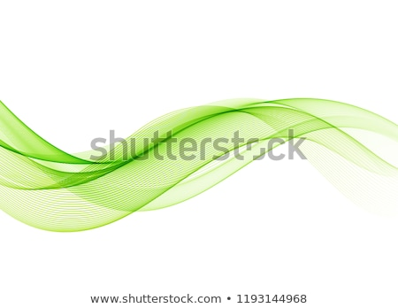 Stock photo: Green wave smoke