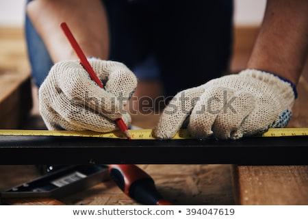 планирования проект плотничные работы изделия из дерева промышленности ноутбук Сток-фото © stevanovicigor