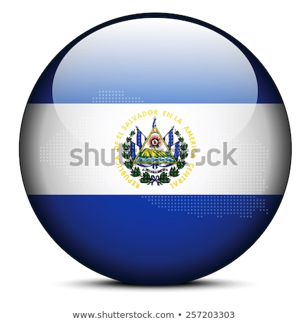Map with Dot Pattern on flag button of Republic of El Salvador Stock photo © Istanbul2009