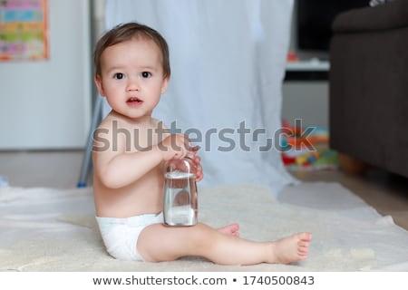 bébé · attente · massage · soft · couverture · visage - photo stock © Photoline