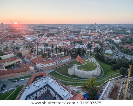 vilnius old town at dawn time stock photo © 5xinc