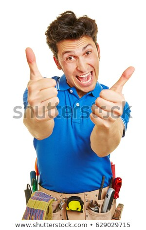 Stock fotó: üzletember · tart · mindkettő · kezek · öv · vonzó