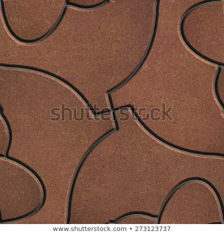 Brown Paving in the Form of Fish. Stock photo © tashatuvango