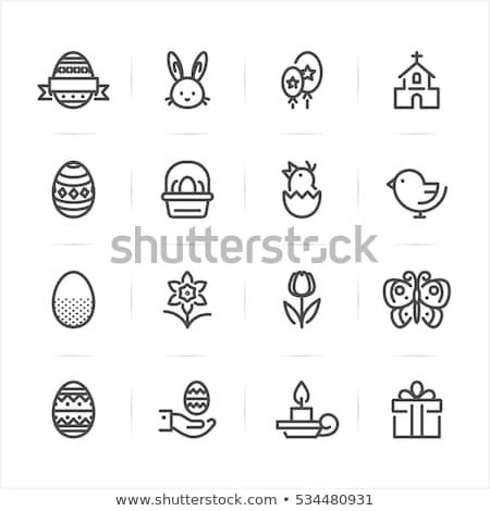 páscoa · ícones · comida · ovo - foto stock © helenstock