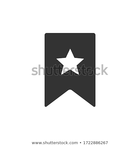 Segnalibro icona illustrazione nero argento metal Foto d'archivio © nickylarson974
