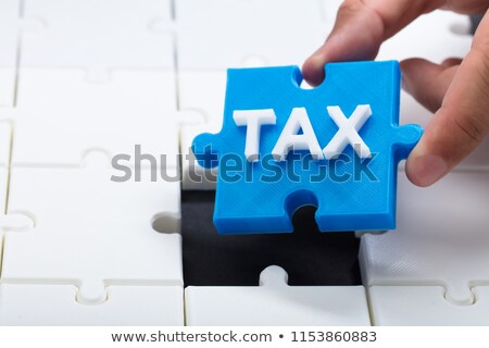 Auditoría blanco palabra azul 3d financiar Foto stock © tashatuvango