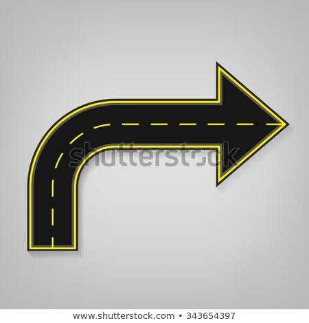 Estrada seta indicação para cima bem sucedido progresso Foto stock © iqoncept