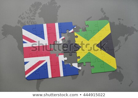 European Union and Jamaica Flags in puzzle Stock photo © Istanbul2009