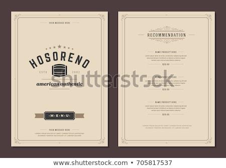 dining · restaurant · menu · vector · bestek · vork - stockfoto © kovacevic