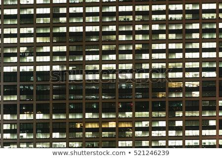 Foto stock: Negócio · prédio · comercial · windows · padrão · moderno · azul