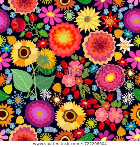 Kleurrijk esdoorn bladeren illustratie Rood Stockfoto © tanya_ivanchuk