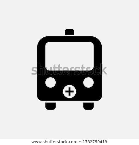 скорой фиолетовый вектора икона дизайна здоровья Сток-фото © rizwanali3d