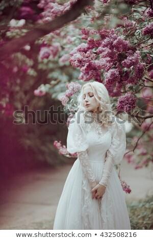 отпуск · день · Cute · блондинка · небе · воды - Сток-фото © neonshot