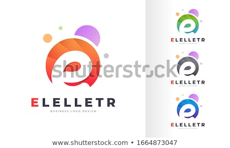 colorful letter e vector symbol stock photo © blaskorizov