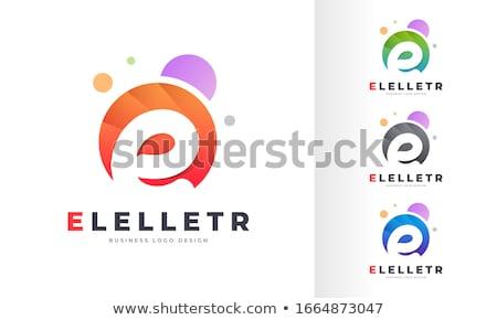 colorful letter e vector symbol stock photo © blaskorizov