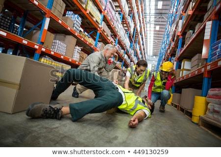 工場労働者 · 段ボール · ボックス · ビジネス · 作業 · フレーム - ストックフォト © wavebreak_media