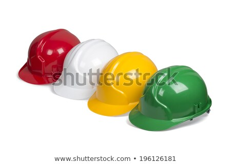 Red and green construction helmets shot Stock photo © shutswis