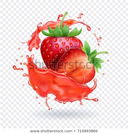 Strawberry splash stock photo © giko