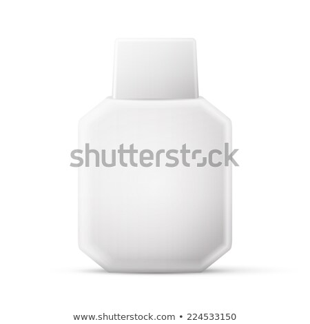 Cosmetic Parfume, Deodorant, Freshener Or Medical Antiseptic Drugs Square Plastic Bottle White Stock photo © netkov1