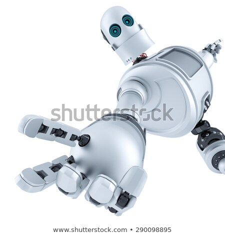 Helping hand. Technology concept. Isolated. Contains clipping path stock photo © Kirill_M
