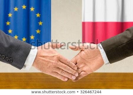 Polônia apertar a mão negócio mãos sucesso Foto stock © Zerbor