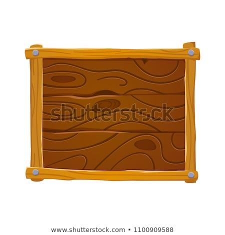 legno · vecchio · segno · isolato · bianco · costruzione - foto d'archivio © scenery1