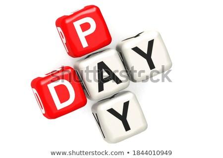 pay   white word on red puzzles stock photo © tashatuvango
