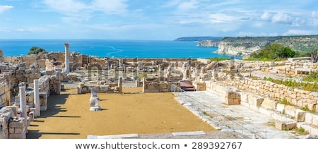 panoramic view of kourion archaeological site limassol district stock photo © kirill_m