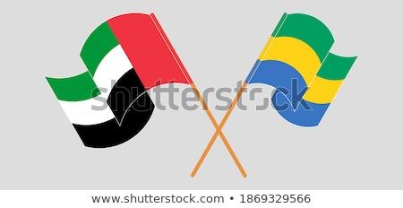 Birleşik Arap Emirlikleri Gabon bayraklar bilmece yalıtılmış beyaz Stok fotoğraf © Istanbul2009