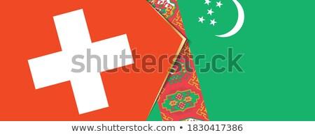 Switzerland and Turkmenistan Flags Stock photo © Istanbul2009